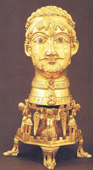 Zu den wertvollsten Besitztümern des Klosters Cappenberg zählte dieser vergoldete Barbarossakopf aus dem 12. Jahrhundert. Er wird immer noch in der einstigen Klosterkirche aufbewahrt / Foto: Wikipedia / Dr. Hans Chr. Riedelbauch / CC-BY-SA 3.0