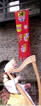 Das gestohlene Werbebanner zeigt mehrere Wappen. Foto: Märkischer Kreis/Ausschnitt