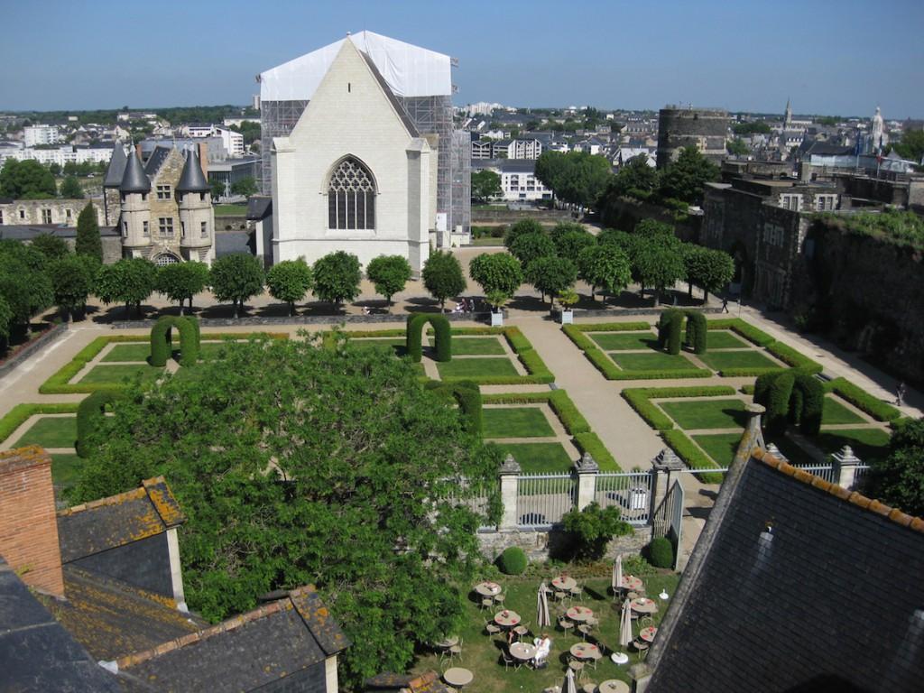 Innenhof des Chateau Angers