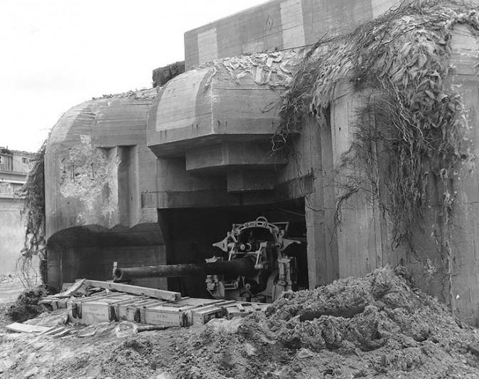 Deutscher Geschützbunker in Cherbourg / Foto: gemeinfrei