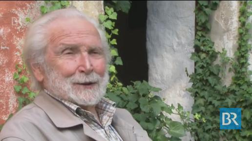 Das BR-Fernsehen besuchte Hans Fischer auf der Burg / Bild: Screenshot Youtube
