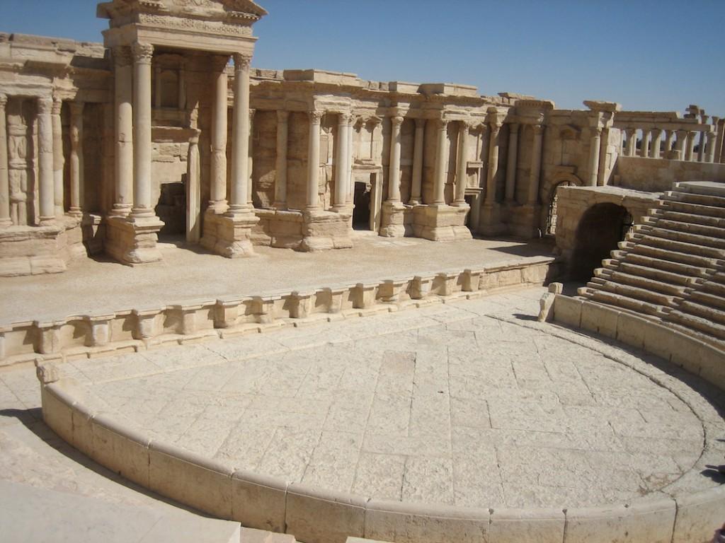Das Amphitheater von Palmyra: 2015 Ort einer Massenhinrichtung durch den IS.