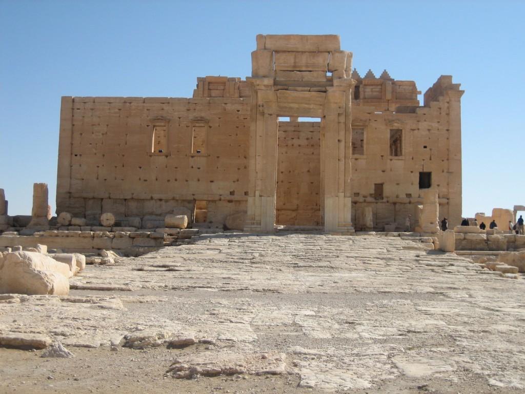 Der gut erhaltene Balltempel in Palmyra diente zu osmanischer Zeit als Festung