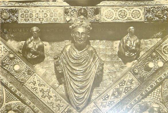 Rainald von Dassel, hier verewigt am Schrein der Hl. Drei Könige im Kölner Dom, wollte Burg Rheineck nicht hergeben / Foto: Gemeinfrei
