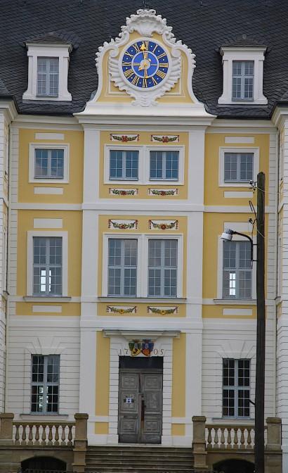 Die sanierte Fassade von Schloss Wiederau / Foto: Burgerbe.de