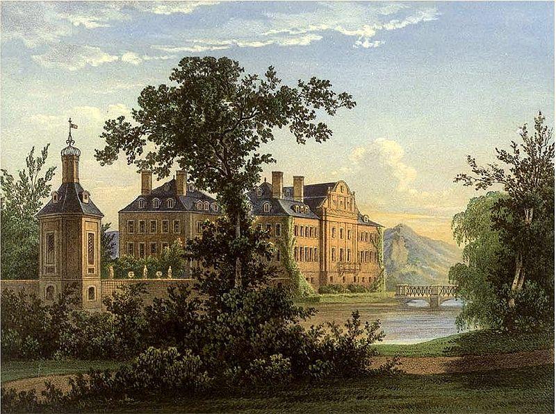 Schloss Nordkirchen um 1860 / Bild: gemeinfrei