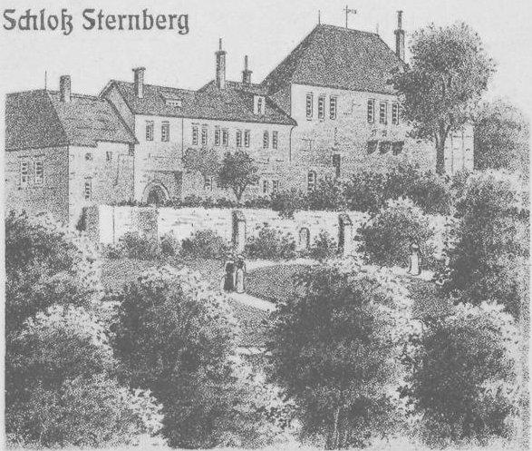 Schloss Sternberg 1904: Damals diente es als Revierförsterei der Fürsten zu Lippe / Bild: gemeinfrei