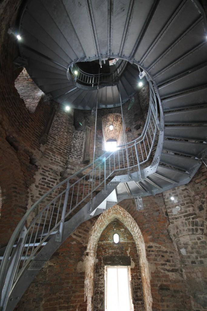 Für die Landesgartenschau bekam der Burgturm eine neue Treppe
