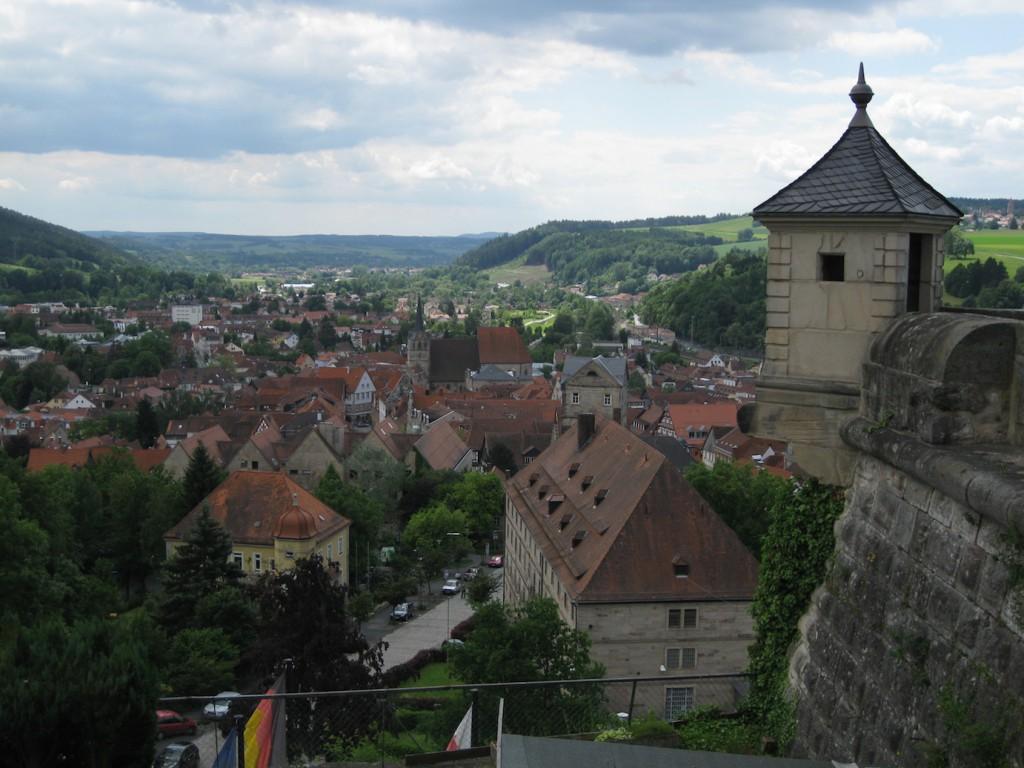 Aussicht auf Kronach von der Festung Rosenberg