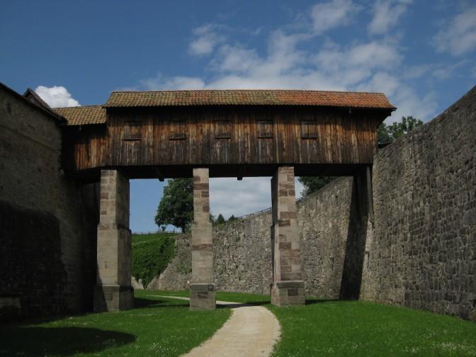 Festung Rosenberg: Die große Wallbrücke