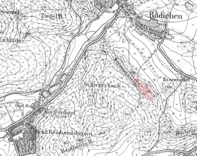 Lagekarte der Reste von Burg Hermannstein / gemeinfrei