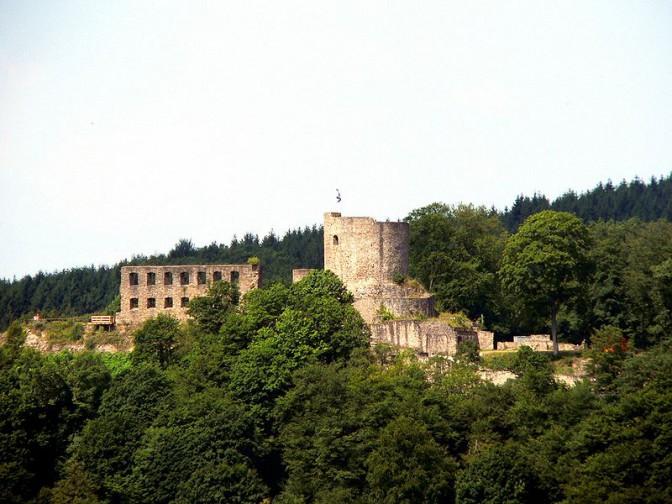 Burg Windeck / Foto: Sir Gawain/gemeinfrei / Foto der Dreharbeiten oben: Pressestelle Rhein-Sieg Kreis