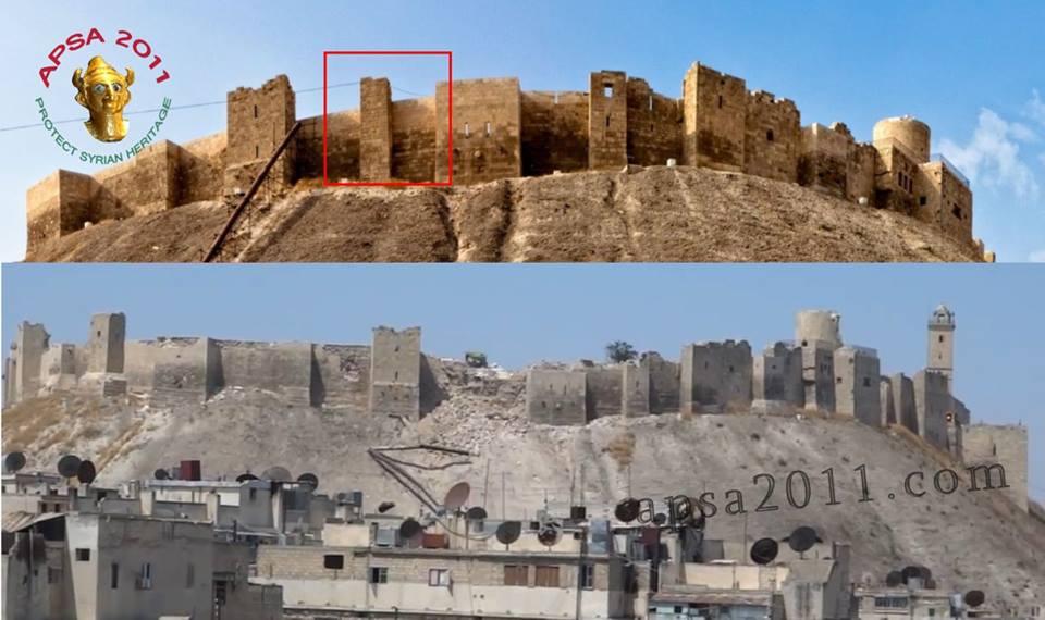 Zerstoerungen Zitadelle Aleppo