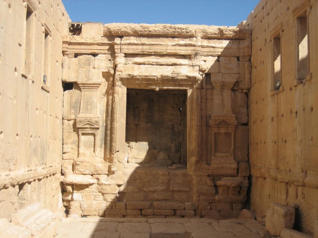 Das Innere des Baaltempels: Platz für das Heiligtum.