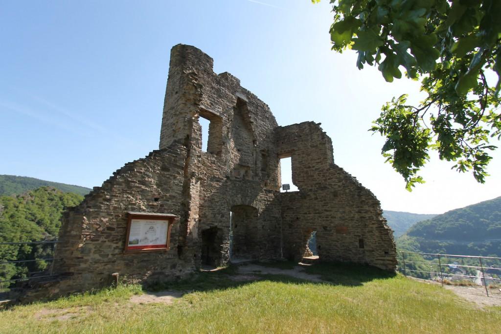Die Überreste von Burg Are