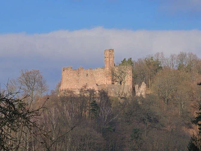 Die Ruine von Burg Hohenecken / Foto: Wikipedia / Ulli1105 / CC-BY-SA 3.0 / Foto oben: gemeinfrei