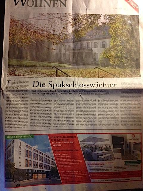 Die FAS schreibt über die Schlosswächter-WG auf Hohehorst / Eigenes Foto nach Lektüre