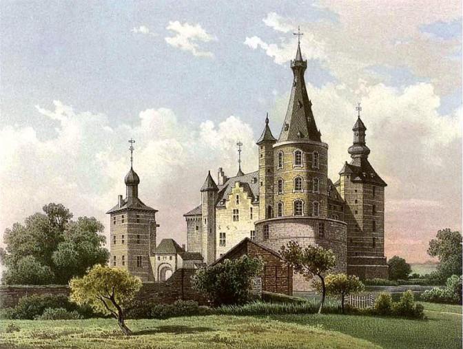 Schloss Merode um 1860 / Foto: Sammlung Duncker, gemeinfrei