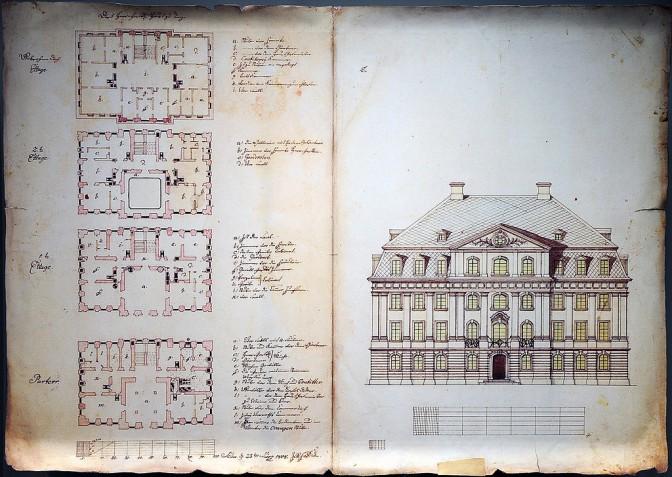 Grundrisse des Schlosses aus dem Jahr 1808 / gemeinfrei