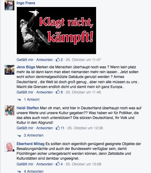 """In den Kommentaren der Facebookseite des Museums wurde zum """"Kampf"""" aufgerufen."""