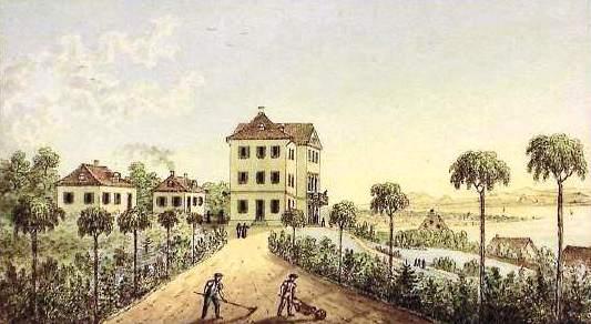 Schloss Eugensberg um 1850: Vor dem Umbau zum Historismus-Palast / Bild: gemeinfrei