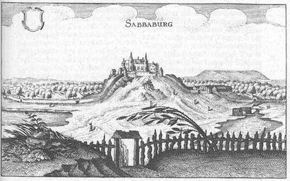 Die Sababurg um 1645 / Foto: Merian-Stich, gemeinfrei