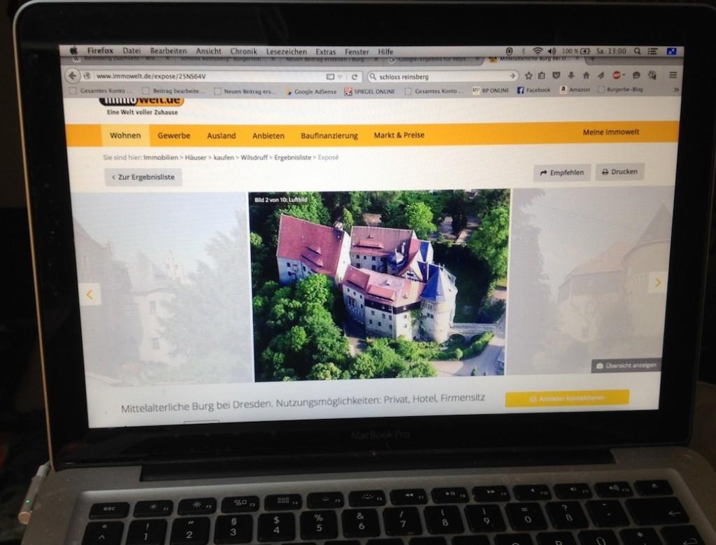 Imowelt-Anzeige zu Schloss Reinsberg