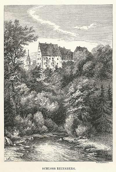 Wildromantisch: So sah Schloss Reinsberg vor 1870 aus / Bild: Gemeinfrei