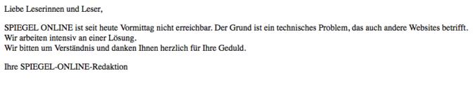 Spiegel Online Ausfall