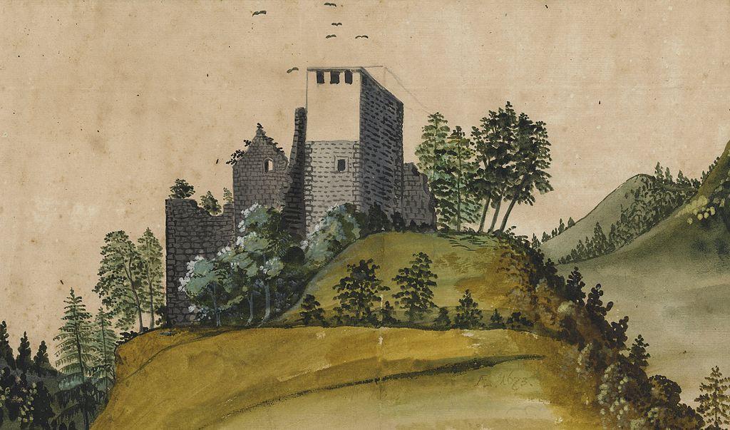 So sag die Burg 1673 aus / Bild: gemeinfrei