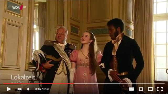 Die Hauptdarsteller bei der Pressekonferenz zu den Dreharbeiten / Screenshot: Youtube