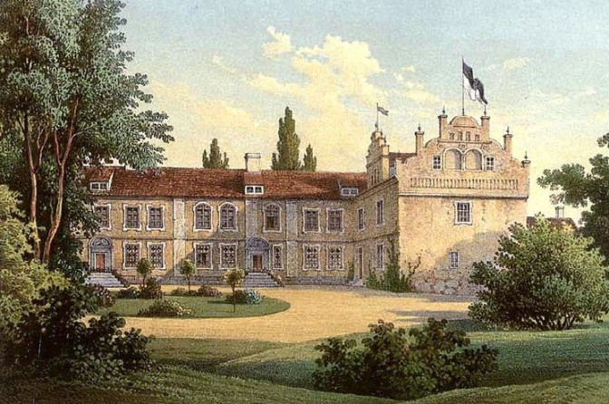 Schloss Divitz in den 1860er Jahren / gemeinfrei / Foto oben: So sieht Schloss Divitz heute aus / Bild: Screenshot Youtube