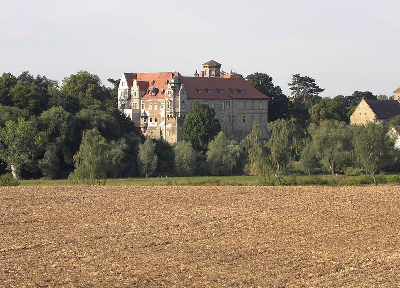 Blick über die Felder auf Schloss Hohenerxleben / Foto: Wikipedia / Meleagros / CC-BY-SA 3.0