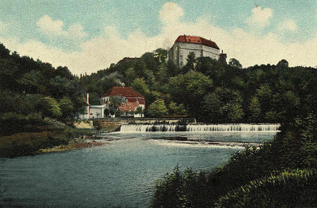 Schloss Sachsenburg um 1900 / gemeinfrei