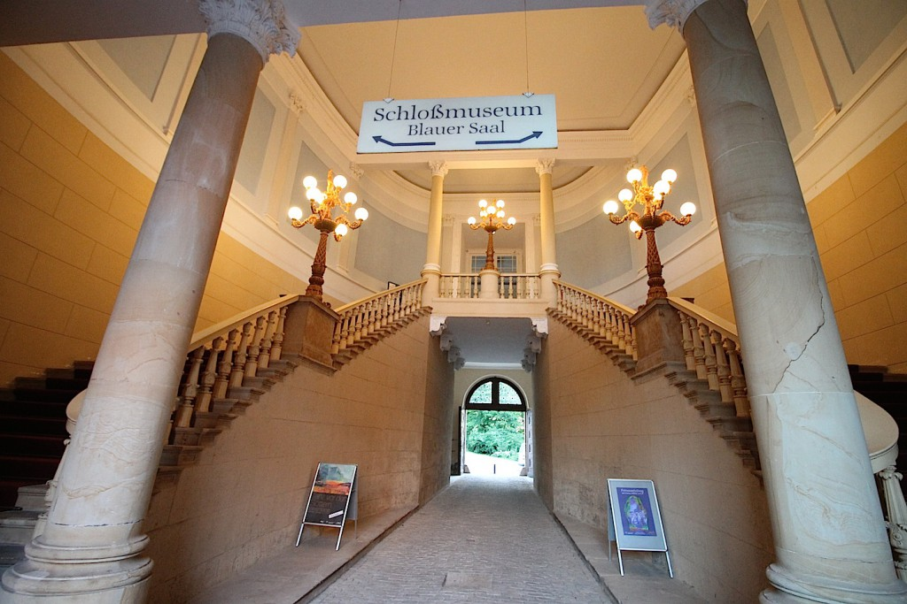 Hauptsache großzügig: Entrée zum heutigen Schlossmuseum