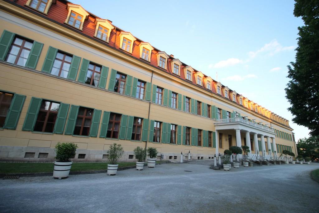 Im Westflügel ist heute u.a. ein Restaurant untergebracht.