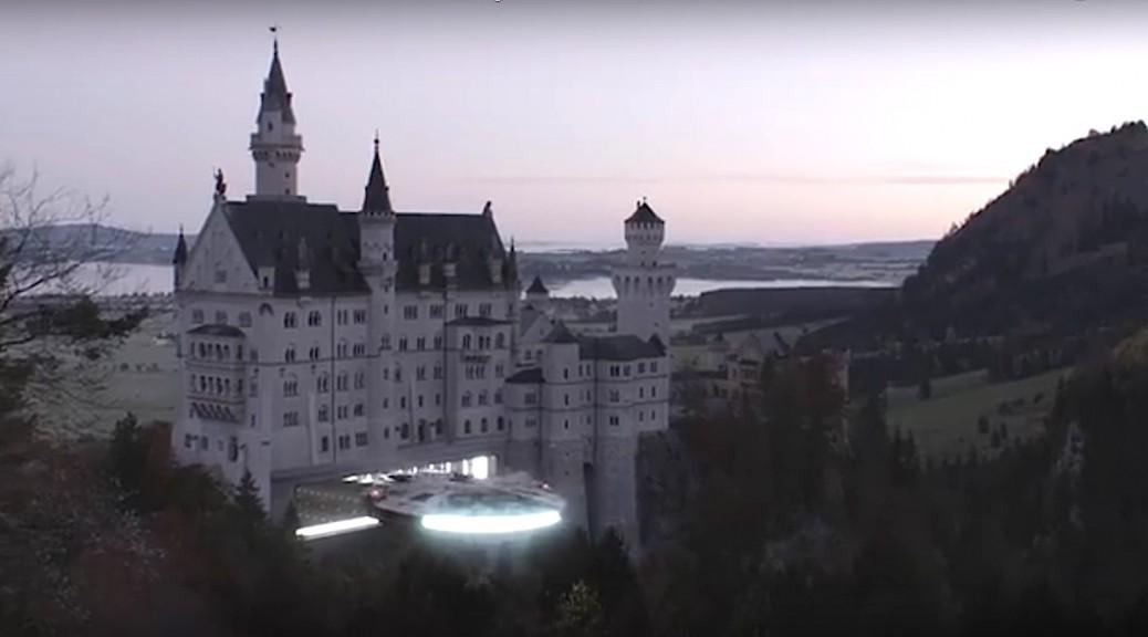 Star Wars Millenium Falke Schloss Neuschwanstein