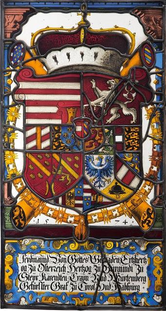 Die Wappenscheibe in der Gesamtansicht /  Foto: Bettina Neubauer-Pregl © Bundesdenkmalamt
