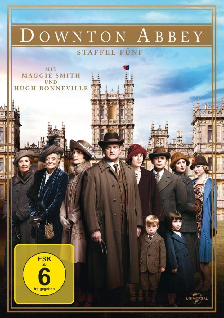 Das Cover der aktuellen Staffel 5 zeigt natürlich auch Downton Abbey (Highclere Castle) / Bild: Amazon