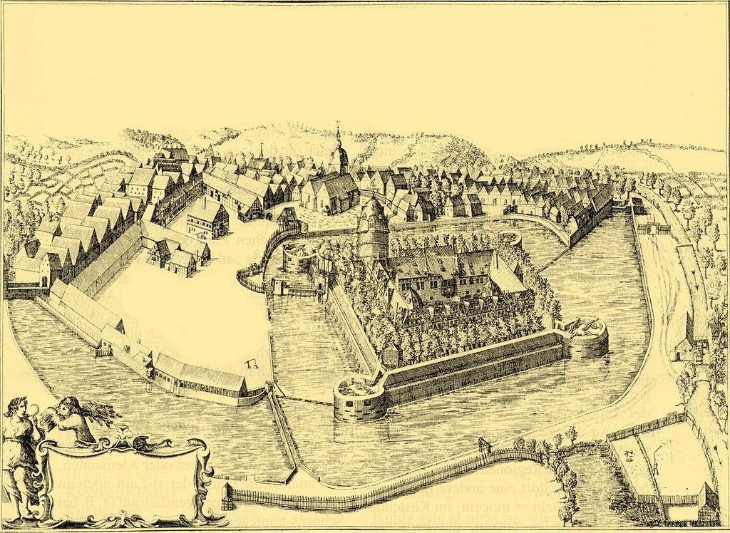 Gut befestigt: Schloss Detmold im Jahr 1663 / Bild: gemeinfrei