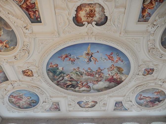 2015: Sanierte Decke im Schloss / Foto: Wikipedia / Urfin7 / CC-BY-SA 4.0
