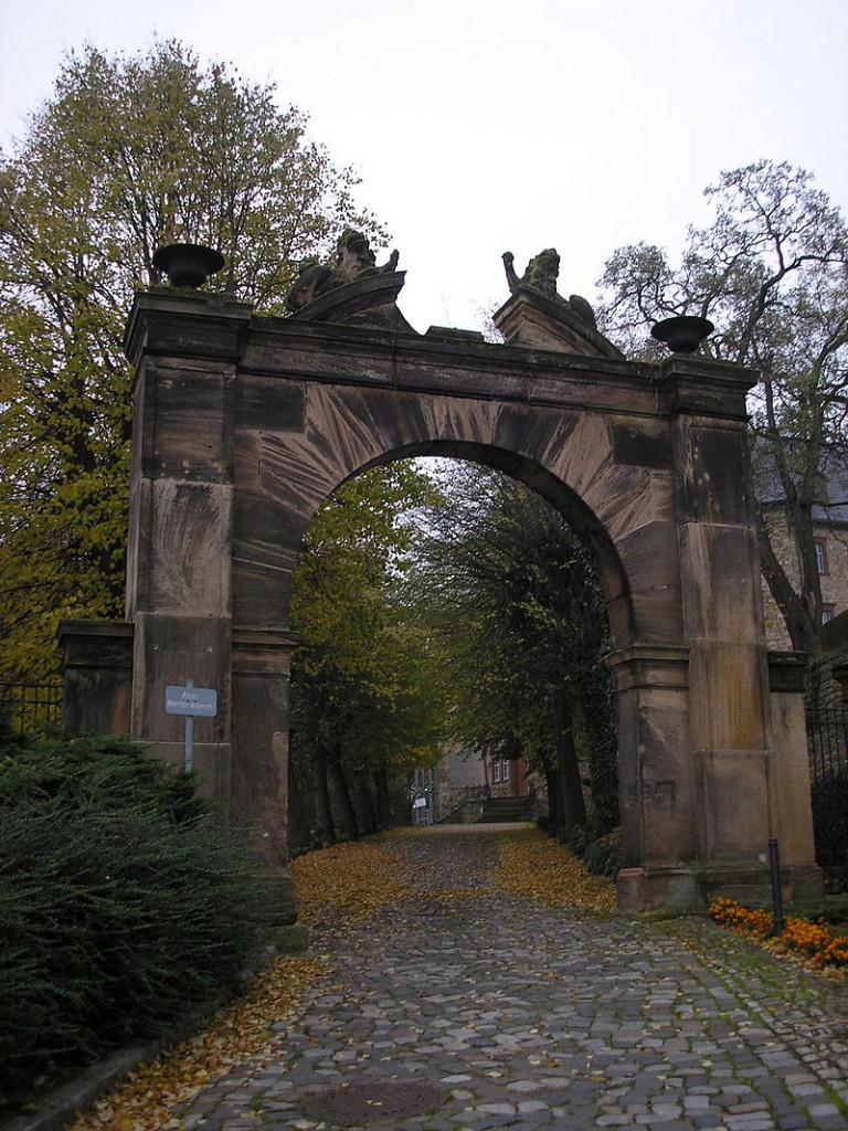 Eingangstor zu Schloss Wiehe / Foto: Wikipedia / Michael Sander / CC-BY-SA 3.0