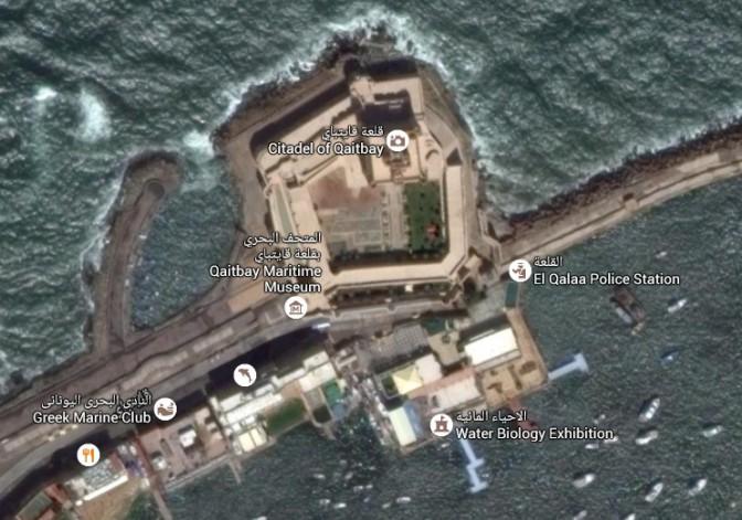 Wenig Platz für eine Riesen-Leuchtturm: Die Umgebung der Zitadelle / Bild: Screenshot Google Maps
