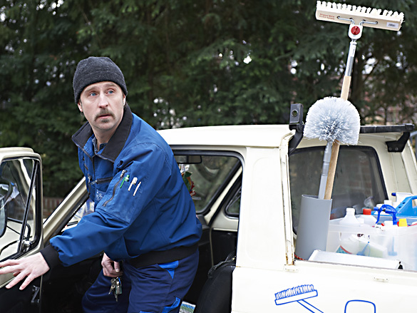 Bjarne Mädel als Tatortreiniger Schotty / Foto: Wikipedia / Sandra Hoever / CC-BY-SA 3.0