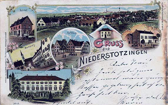 schloss oberstotzingen Niederstotzingen postkarte 1900
