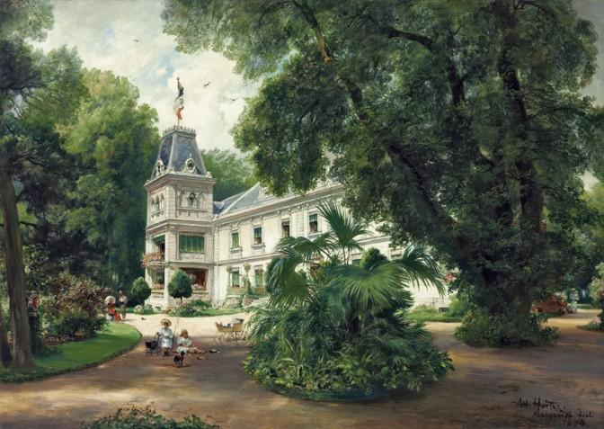 Schloss Marquardtstein 1894 auf einem Gemälde von Albert Hertel / Foto: gemeinfrei