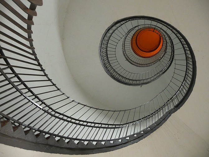 Treppenhaus im Felstraßenbunker / Foto: gemeinfrei