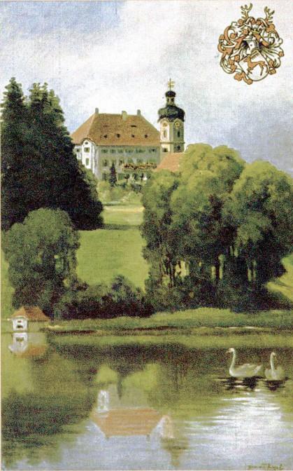 Bevor die Schlapphüte kamen: Schloss Hirschberg auf einer Postkarte von 1912. Foto: gemeinfrei