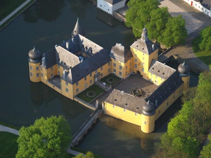 Luftbild von Burg Gudenau / Foto: Wikipedia / Wolkenkratzer / CC-BY-SA 3.0
