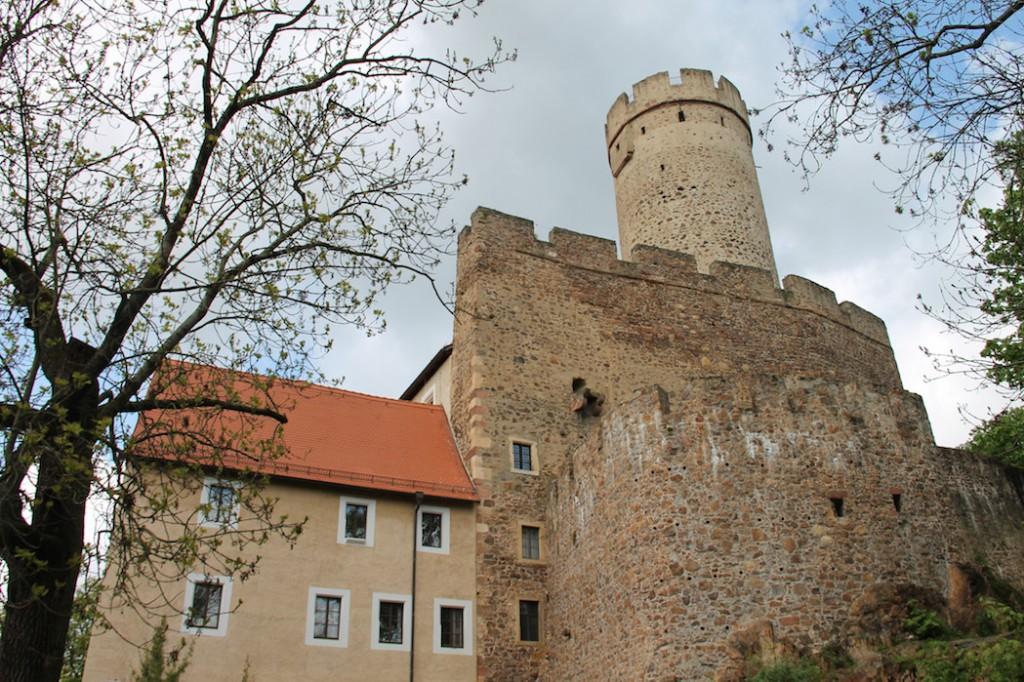 Burg Gnandstein gibt heute noch ein imposantes Bild ab.